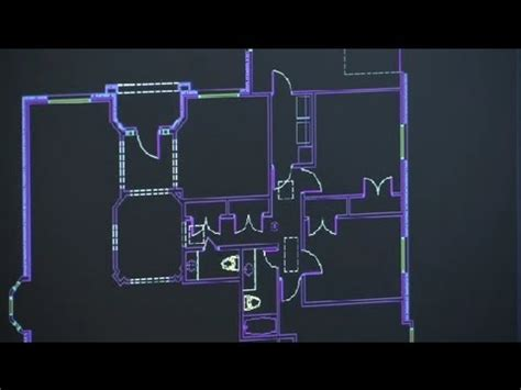 draw  building floor plan  scale architectural