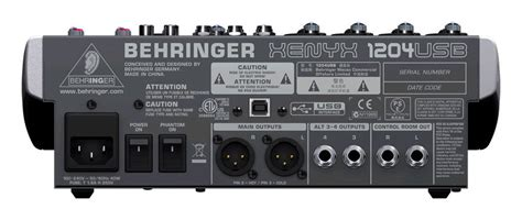 Mixer Behringer 1204usb behringer xenyx 1204usb 12 channel mixer zzounds