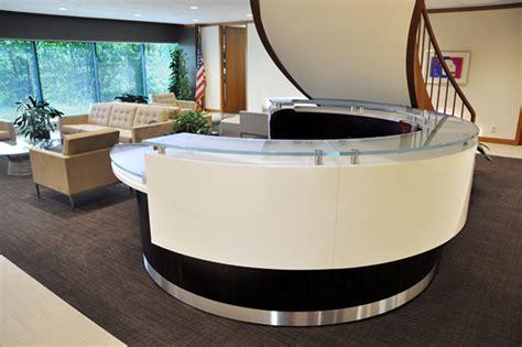 rounded reception desk arnold reception desks inc contemporary reception desk