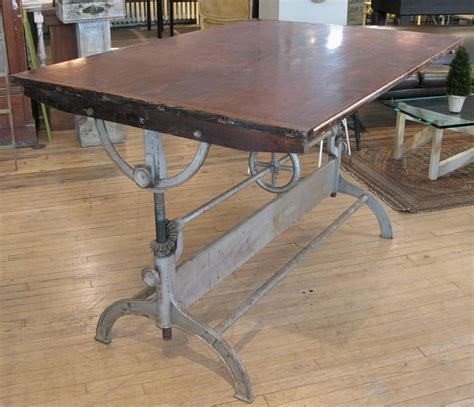 iron drafting table antique industrial cast iron adjustable drafting table at
