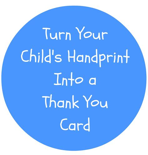 how to make a thank you card for your how to make thank you cards using your child s handprint
