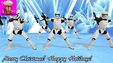 stormtroopers dance merry christmas  happy holidays star wars force awakens mmd youtube