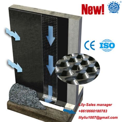 any type geo composite dimple drainage board for tunnel