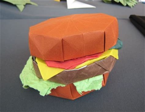 How To Make A Paper Hamburger - gilad s origami page bos 40th anniversary convention 2007
