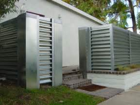 corregated steel fence modern orange county by gerardi design
