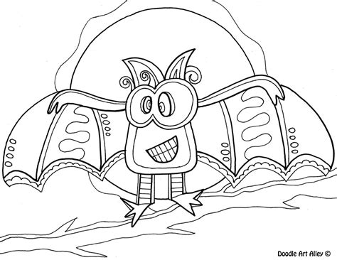 Bat Color Pages by Bat Color Pages Cat Coloring Page Terrifying