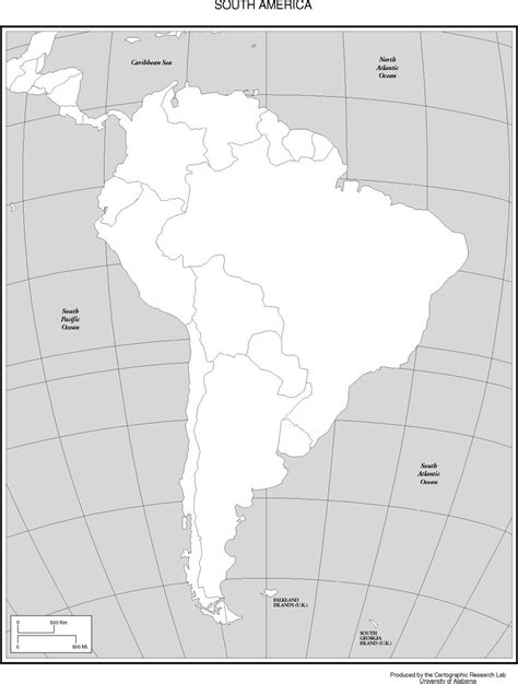 blank political map of america blank map of south america political