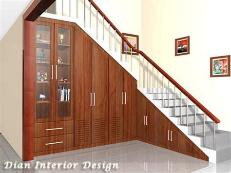 contoh desain lemari bawah tangga desain tangga minimalis nulis