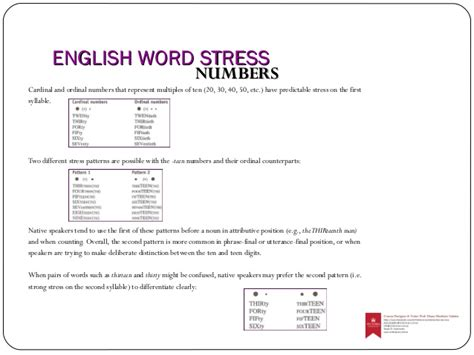 stress patterns english worksheet english word stress