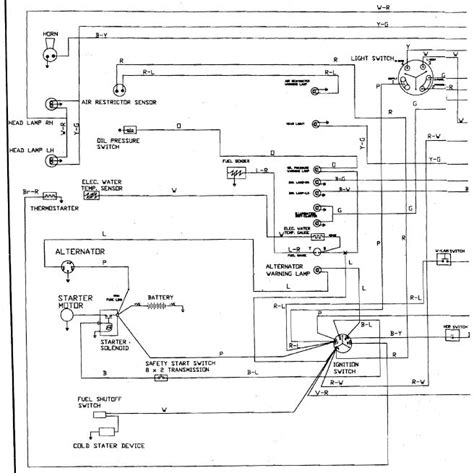 mitsubishi d1600 ignition switch wiring diagram d
