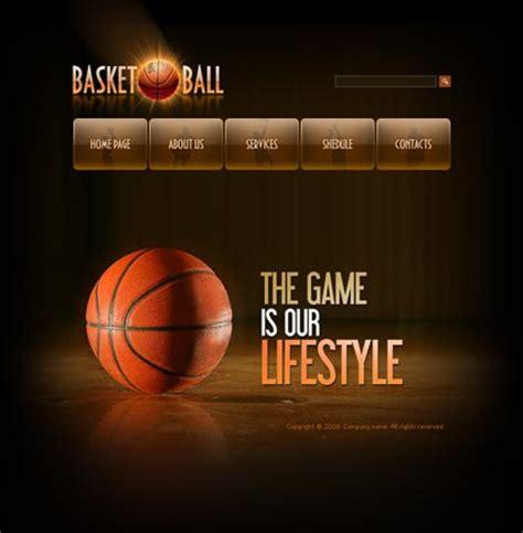 Free Basketball Website Templates Basketball Flash Template Best Website Templates