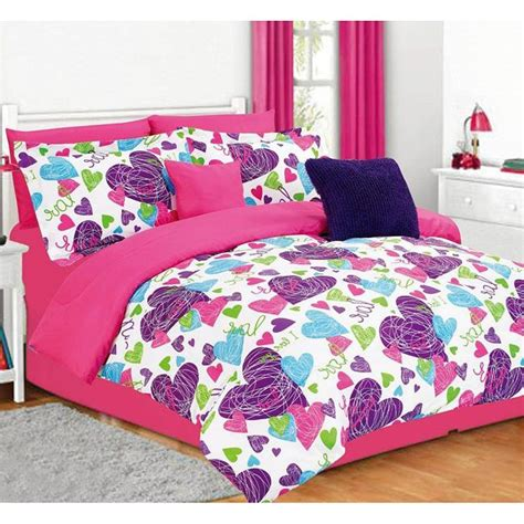 purple and pink comforter sets misty 5 piece heart comforter set twin the o jays and