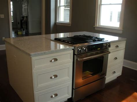 stove on kitchen island downdraft drop in stove in island renovating a historic