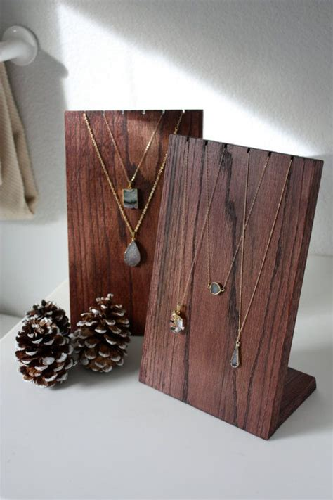 how to make jewelry stands and displays 25 best ideas about wooden jewelry display on