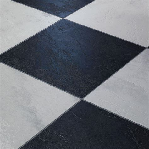 Black And White Laminate Flooring Innovations Black And White Chess Slate 8 Mm Thick X 11 3 5 In Wide X 46 1 4 In Click Lock