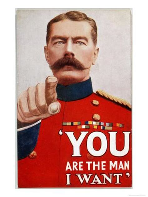 Kitchener Wants You by Kitchener Poster Recruitment Poster Featuring Kitchener