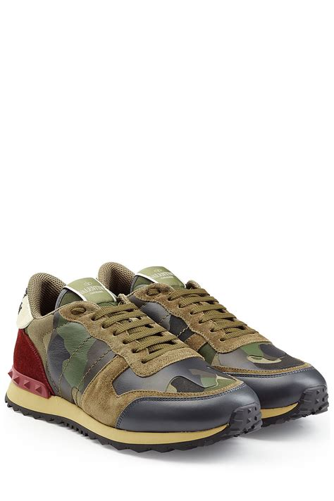 valentino sneakers valentino leather rockstud sneakers multicolor for