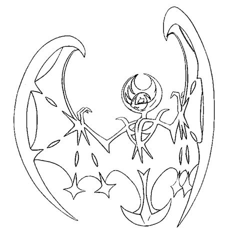 coloring pages pokemon sun and moon coloring page pokemon sun and moon lunala 1