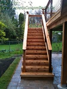 Patio Stairs Design A Simple Rustic Cedar Wood Stairs Deck Design Custom Deck Patio Toronto Landscaping Your