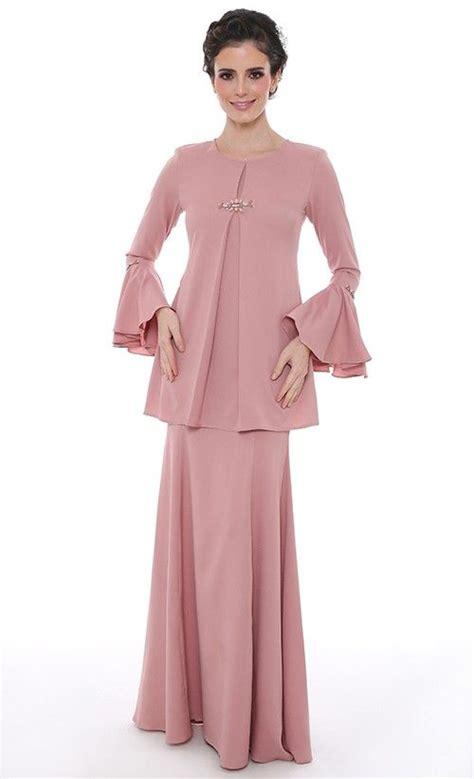 Set Rina Glw Setelan Kebaya Muslim Set Baju Batik Wanita khayalan cinta modern kurung in dusty pink raya 2016