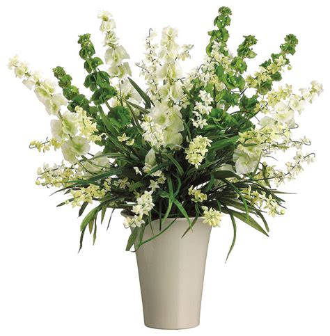 Floral Interiors Artificial Flowers And Trees by Silk Plants Direct Bells Of Ireland And Wildflower Pack