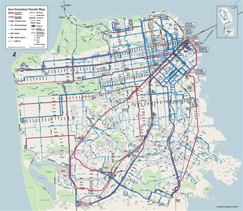 san francisco map rds muni forward brings you more service muni rapid new map