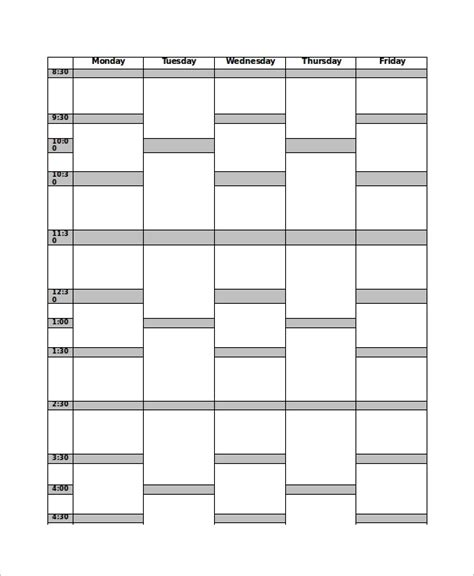 timetable outline template 17 timetable template free sle exle format