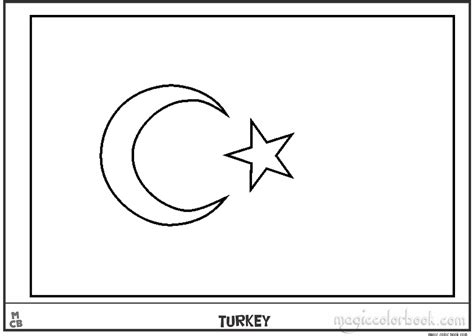 turkey flag coloring pages free