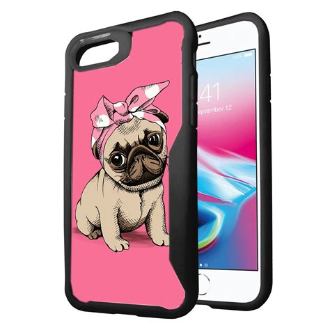 apple iphone   clear case  black silicone edges cute pets ebay
