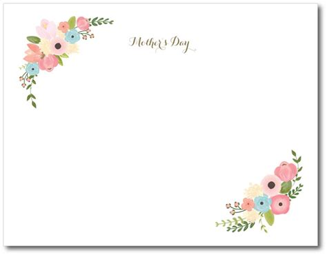 mothers day cards free templates diy s day printable keepsake project nursery