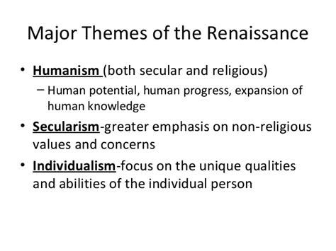 themes in literature during the middle ages impact of renaissance on english literature