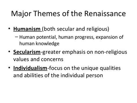themes of english renaissance literature impact of renaissance on english literature