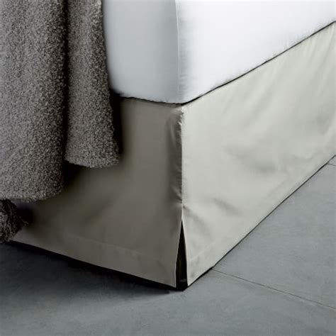 west elm bed skirt 400 thread count organic sateen bed skirt west elm