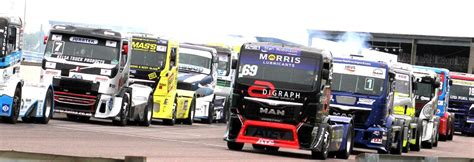 racing truck trucks race meeting thruxton circuit