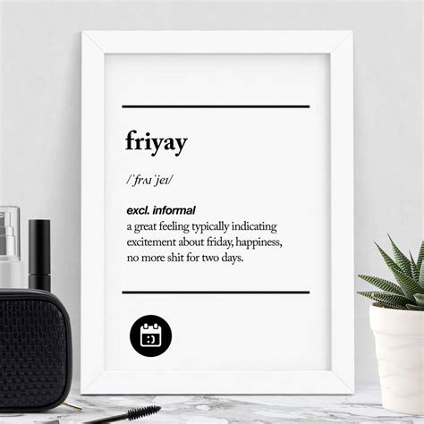 friyay typography print by the motivated type