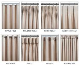Styles Of Curtains Pictures Designs The 8 Most Common Types Of Drapery Pinteres