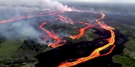 aloha haircuts hilo hours hawaii kilauea volcano aerial video shows lava streaming