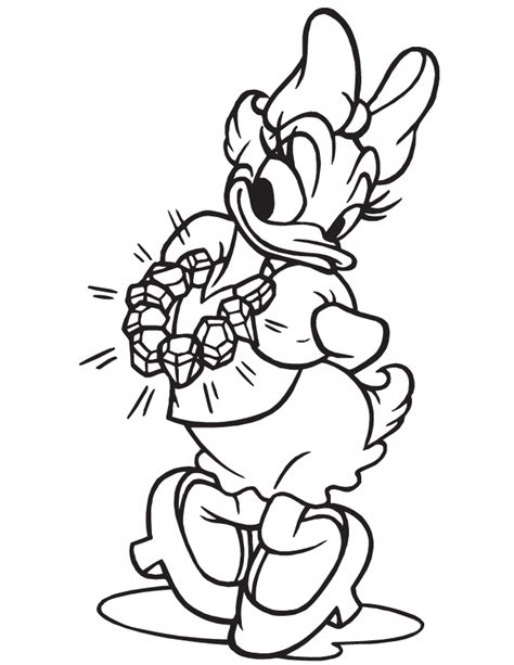 printable coloring pages daisy duck daisy duck coloring page coloring home