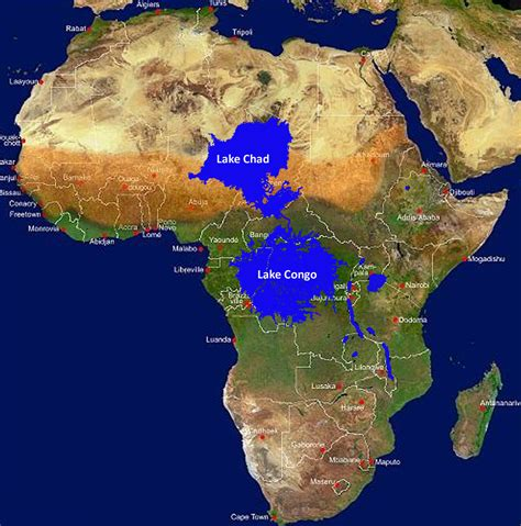 africa map lakes the kinshasa mega dam part 2 lake chad mapalomania