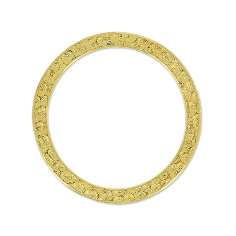 hammertone ring 25mm gold tone x1 tierracast perles co