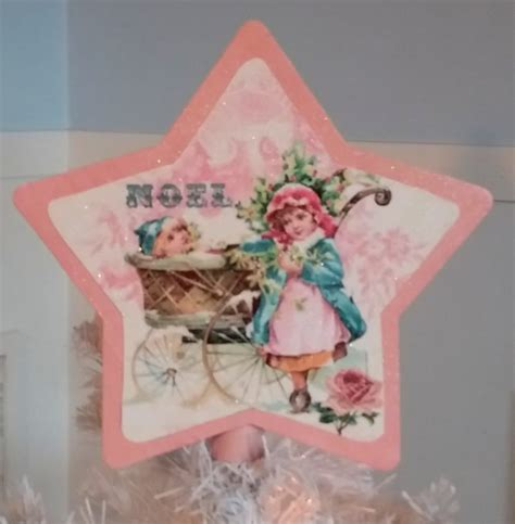 shabby chic tree toppers handmade pink shabby chic vintage tree