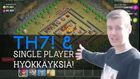 clash of clans single player clash of clans th7 single player hy 246 kk 228 yksi 228 w facecam