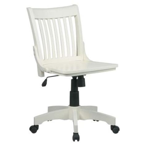 white rolling desk chair armless wood banker s chair antique white if i did go the rolling chair route home