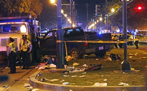 truck in orleans truck plows into orleans mardi gras parade 28 injured