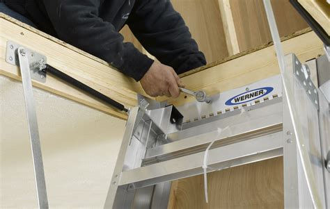 loft ladder attic install how to install an attic ladder pro construction guide