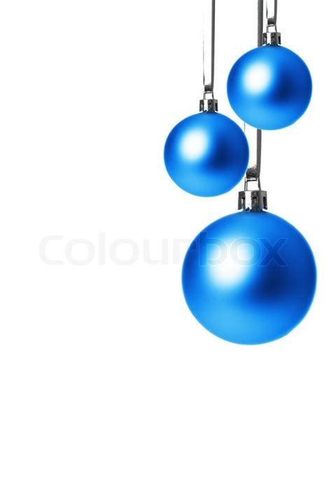 ornaments blue blue balls isolated with white background
