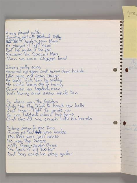 lyrics bowie david bowie is everywhere