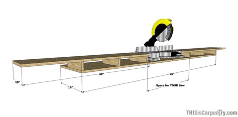 dewalt drop saw bench make a miter saw work station part 1 thisiscarpentry