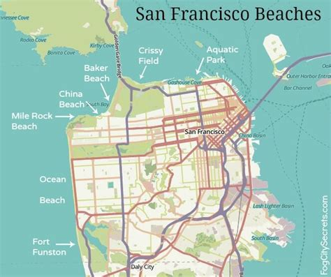 san francisco bridges map san francisco beaches beaches in san francisco you bet