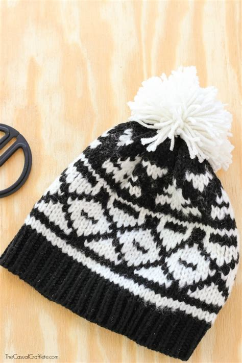 how to attach a pom pom to a knitted hat how to make and attach a pom pom to a hat
